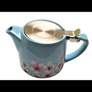 Alfred Ceramic Steel Teapot9 x 2.7 x 1 inches NEW